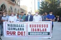 PROTESTO - Misir'da Darbe Karsitlarinin Idam Edilmesi Van'da Protesto Edildi