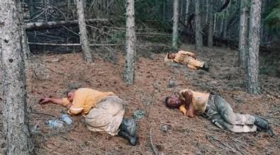 Yangınla mücadelede duygulandıran kare! Kahraman personeller yangını söndürüp toprakta uyudu