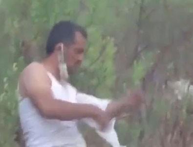 Yaralanan orman işçisi Cihan Toşur kolunu sarıp görevine koştu!