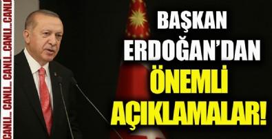 Başkan Erdoğan'dan afet bölgesinde önemli açıklamalar!
