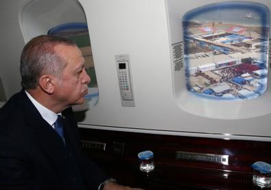 Başkan Erdoğan yangın bölgesinde! Havadan incelemelerde bulundu