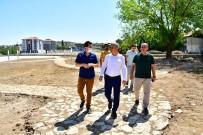 MİMARİ - Yesilyurt Belediyesi Kaynarca Sosyal Tesisleri Ve Park Alaninda Çalismalar Yogunlasti