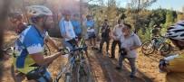 PAMUKKALE - Bisiklet Tutkunlari Yanan Orman Alanlarini Gezdi