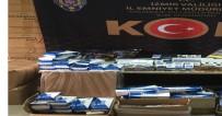 SAHTE İÇKİ - Izmir'de Piyasa Degeri Bir Buçuk Milyon Liralik Kaçak Ürün Ele Geçirildi