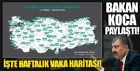 Sağlık Bakanı Koca haritayı paylaştı