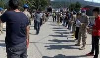 Sinop'ta panik anları! Yardım çalışmasında köprüde çökme tehlikesi