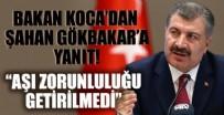 Bakan Koca'dan Şahan Gökbakar'a yanıt: Devlet, turizm sektörü çalışanlarına aşı zorunluluğu getirmedi