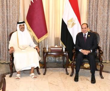 Katar Emiri Seyh Temim, Bagdat'ta Misir Cumhurbaskani Sisi Ile Görüstü