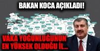 Sağlık Bakanı Fahrettin Koca 14-20 Ağustos'ta illere göre vaka sayılarını açıkladı