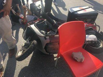 Tekirdag'da Motosiklet Ile Otomobil Çarpisti Açiklamasi 1 Yarali