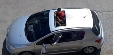 Dügün Konvoyunda Silah Atma Ani Kamerada