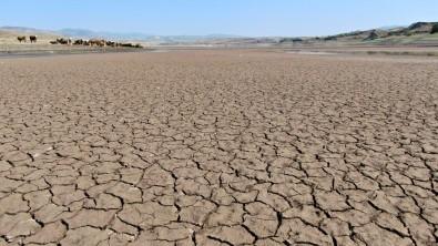 Sularin Çekildigi Baraj Alarm Veriyor, Yürüyüs Alanina Döndü