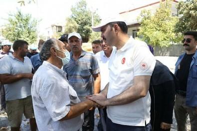 Bakan Kurum'dan yangın bölgesinde önemli mesajlar: 'Vatandaşlarımızın zararlarını karşılayacağız'