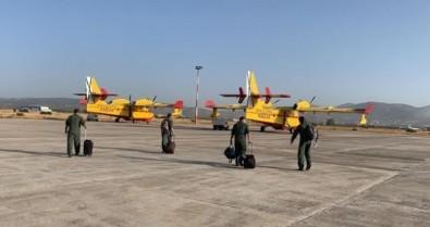 İspanya'dan gelen 2 yangın söndürme uçağı Muğla'da!