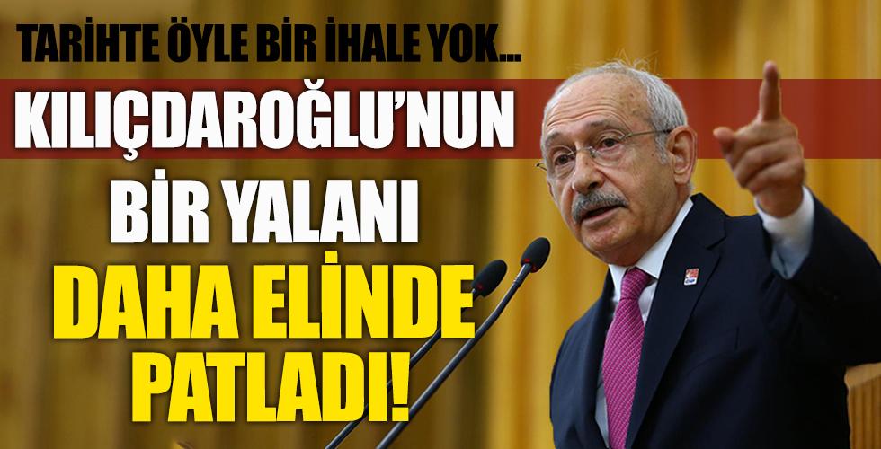 Kılıçdaroğlu'nun bir yalanı daha patladı! Tarihte böyle bir ihale yok...