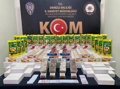 Binlerce Kaçak Tütün Ürünü Yakalandi