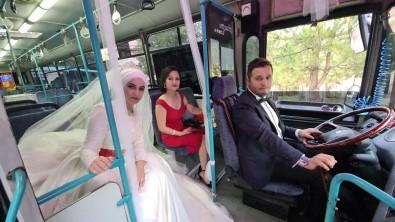 (Özel) Tanistiklari Halk Otobüsünü Gelin Arabasi Yapti