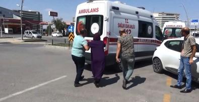 Kaza Yapan Kocasini Öldü Sanip Ambulansin Pesine Kostu