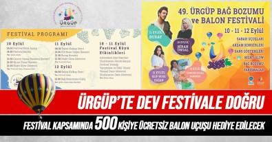 Ürgüp Bag Bozumu Ve Balon Festivali 10 Eylül'de Basliyor