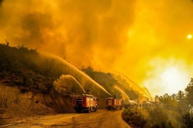Alevler termik santrale ulaşmadan durduruldu! Bölgede yoğun güvenlik önlemi...