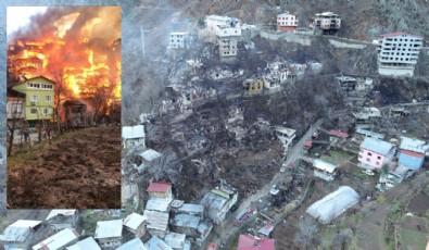 Artvin'deki yangının hasarı gün doğunca ortaya çıktı!