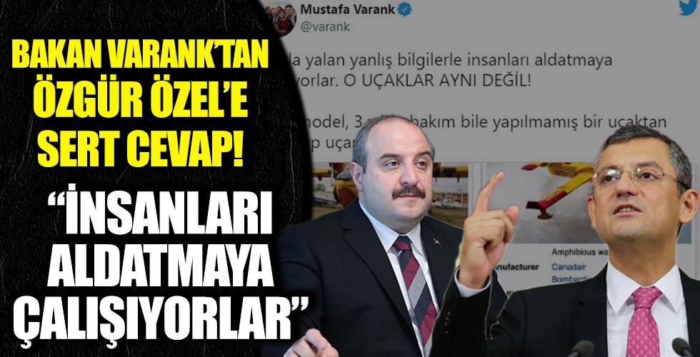 Bakan Varank 'tan Özgür Özel'e sert tepki!