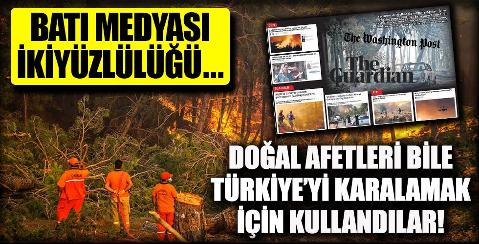 Batı medyasının ikiyüzlülüğü! Doğal afetleri bile Türkiye'yi karalamak için fırsat olarak gördüler!