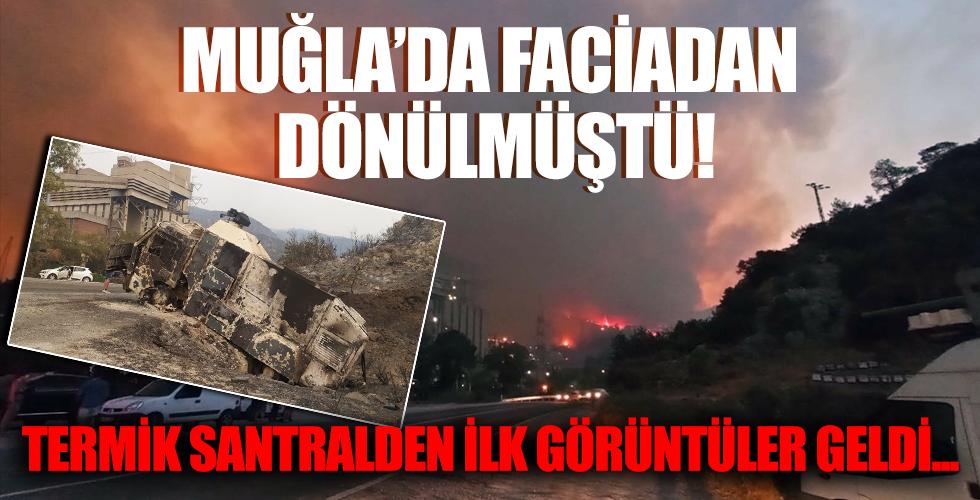 Facianın eşiğinden dönülen Kemerköy Termik Santrali'nden ilk görüntüler geldi...
