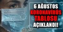 Sağlık Bakanlığı 6 Ağustos 2021 koronavirüs vaka, vefat ve aşı tablosunu paylaştı