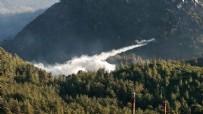 TÜRKİYEDE ORMAN YANGINI - Antalya ve Muğla'da hava araçlarından 10 günde 19 bin 140 sorti! Toplamda toplam 75 bin ton su atıldı
