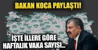 Sağlık Bakanı Fahrettin Koca illere göre haftalık vaka sayısını paylaştı