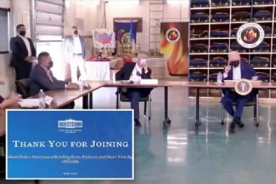 ABD Başkanı Joe Biden'ın yayını Beyaz Saray tarafından anında kesildi! Canlı yayında büyük şok