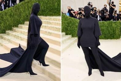 Kim Kardashian, Met Gala'ya damga vurdu!