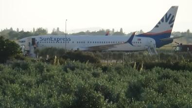 Yolcusu Kalp Krizi Geçiren Uçak Edremit'e Acil Inis Yapti