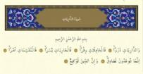 Zariyat Suresi - Zariyat Suresinin Anlamı Nedir? Zariyat Suresi  Türkçe ve Arapça Okunuşu (Diyanet Meali)
