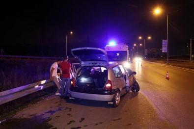 Kaza Yapan Alkollü Sürücü Hincini Gazetecilerden Çikarmak Istedi