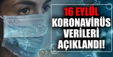 16 Eylül koronavirüs verileri paylaşıldı! İşte Kovid-19 hasta, vaka ve vefat sayılarında son durum tablosu