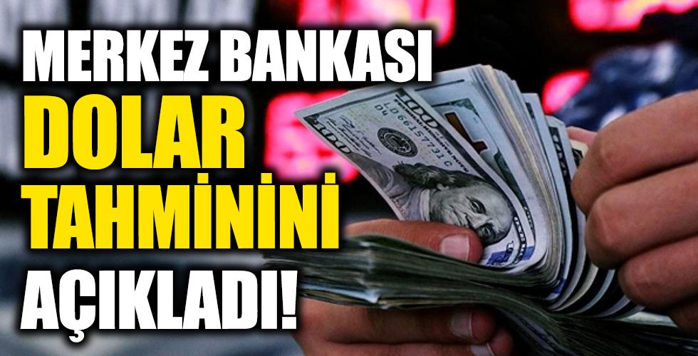 Merkez Bankası dolar tahminini açıkladı!