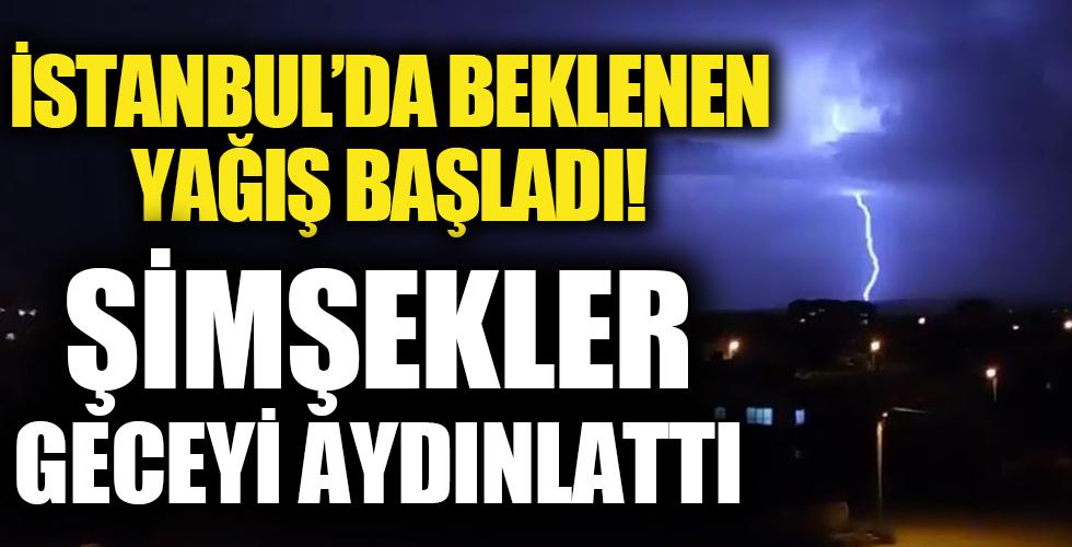 Meteoroloji uyarmıştı: İstanbul'da beklenen yağış başladı
