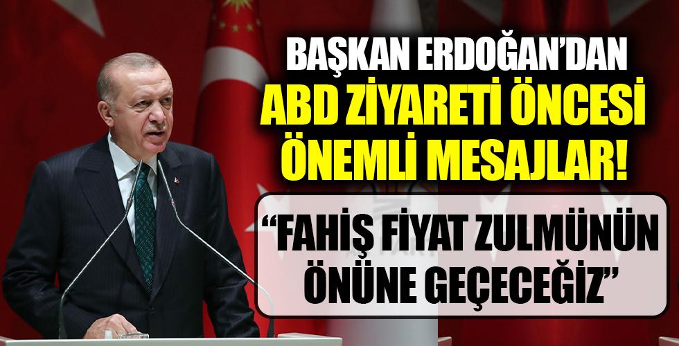 Başkan Erdoğan'dan ABD ziyareti öncesi önemli açıklamalar!