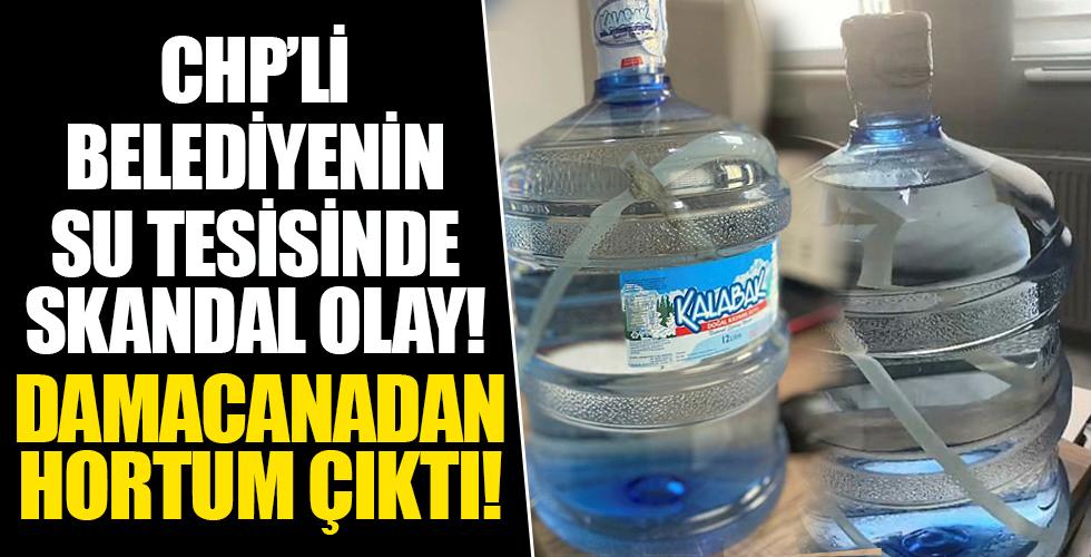 Bu kadarına da pes diyeceğiniz bir olay! CHP'li Eskişehir Belediyesi'ne bağlı su tesisinde şok! Damacanadan hortum çıktı!