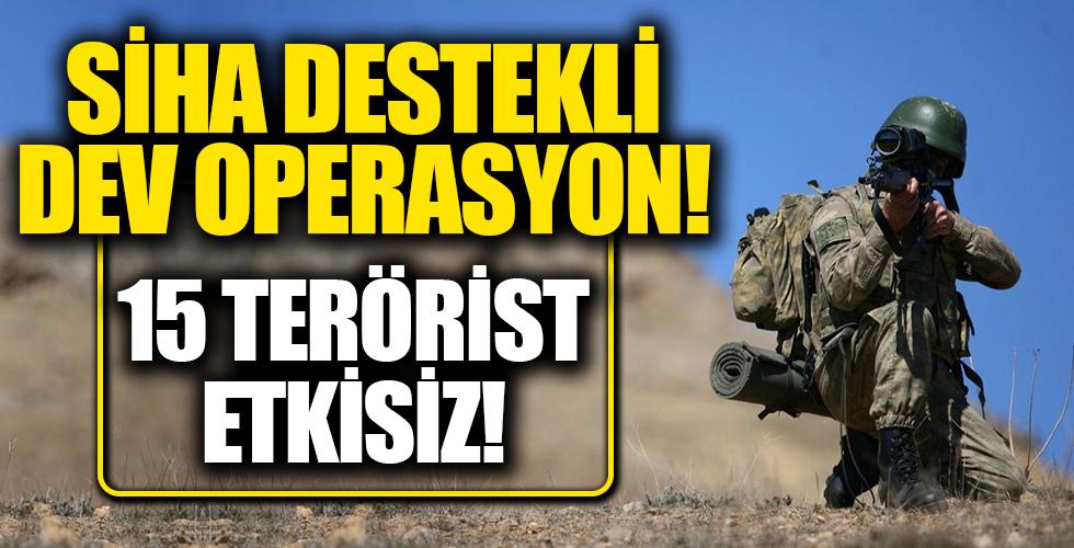 Terör örgütüne operasyon üstüne operasyon! 15 terörist etkisiz