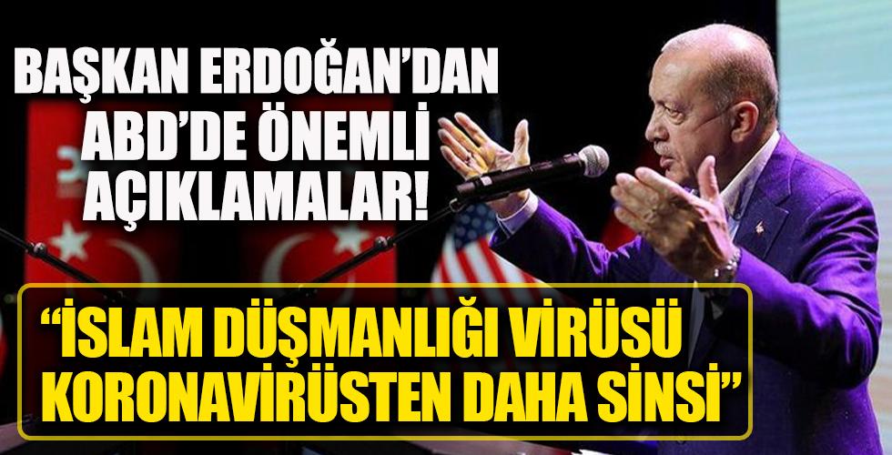 Başkan Recep Tayyip Erdoğan'dan ABD'de önemli açıklamalar