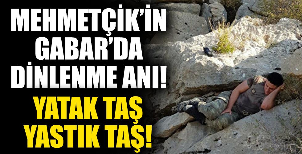 Mehmetçik'in Gabar'da Dinlenme Anı! Yatak Taş Yastık Taş!