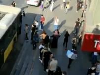 Otobüs kuyruğu üst geçide uzandı