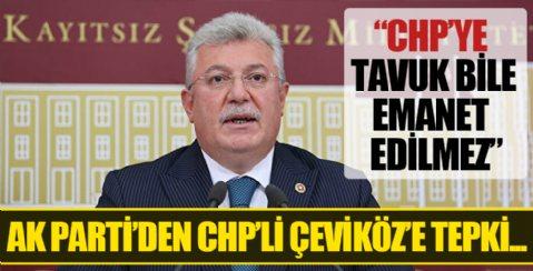 AK Parti Grup Başkanvekili Akbaşoğlu: CHP'ye bırakın devleti tavuk bile emanet edilmez