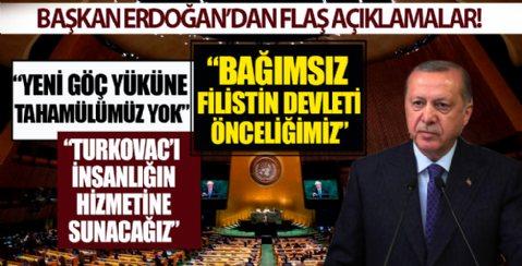 Başkan Erdoğan'dan BM Genel Kurulu'nda Doğu Akdeniz mesajı: Türkiye'yi yok sayan anlayıştan vazgeçilmeli