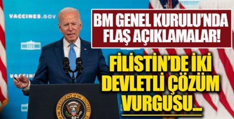 ABD Başkanı Joe Biden'dan Filistin'de iki devletli çözüm vurgusu