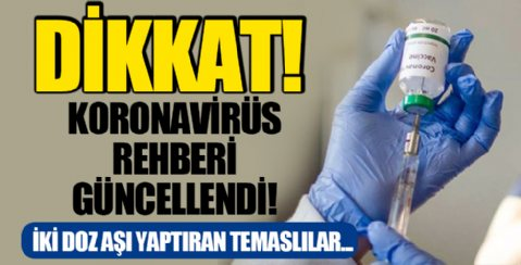 Dikkat! Koronavirüs Rehberi Güncellendi!