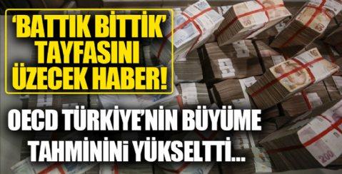OECD Türkiye'nin büyüme tahminini yüzde 5,7'den yüzde 8,4'e çıkardı